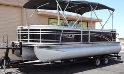 2014 Harris Flote Bote Sunliner 220 - Triple Tube Pontoon $34,900 http://gotwatermarine.com/Consignment_2014_Harris_Flote_Bote_Sunliner_220_Triple_Tube_Pontoon_22'_JF.html  This is a very clean and well maintained triple tube pontoon with spacious