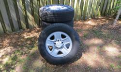 For sale a set of 2014 Tundra tires and rims. The tires are Michelin P255/70/r18 with less than 2000 miles on them. The rims are steel Toyota rims with the sensors in them. Any question please call me at 912-728-4896 and ask for Eddie