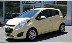 """2014 CHEVROLET SPARK 1LT Fun Little Car! """"LEMONADE"""" Exterior! Gray/Yellow Interior! Automatic Transmission Alloy Wheels Chevrolet MYLINKS SATT radio 4 Cup Holders Rear spoiler Factory Books/Mats/Window Sticker and More! All of our inventory is"""