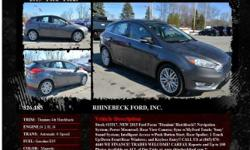 Ford Focus Titanium 4dr Hatchback Automatic 6-Speed Magnetic 1 I4 2.0L I42015 Hatchback RHINEBECK FORD, INC. 845-876-4440