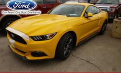 """I pay $100 REFERRALS RapidSpec: 100A BodyStyle: Fastback ExteriorColor: Triple Yellow InteriorColor: Ebony Engine: 2.3L EcoBoost® Engine Drive: RWD Transmission: 6-Speed Auto SeatType: Cloth Seats WheelSize: 19"""" X 8.5"""" Premium Painted Aluminum Wheels"""