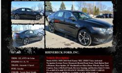 Ford Taurus SEL AWD 4dr Sedan Automatic 6-Speed Tuxedo Black Metallic 1 V6 3.5L V62015 Sedan RHINEBECK FORD, INC. 845-876-4440
