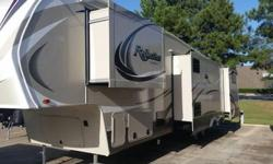 Due to circumstances beyond my control I regrettably need to see my 2015 reflection by design 37 foot 5th wheel. Complete with 4 slides, bunkhouse Edition, electric fireplace, gas/electric fridge spacious kitchen and living room.Leather Throughout in Deep