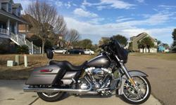 2015 Street Glide Special. Charcoal Pearl only 3167 Miles. This bike is showroom Condition! Not a Scratch Chip at all. It has Security, ABS, Navigation, Cruise, Phone dock. 2 Key FOBS It has stage one kit. Rinehart Slipon'sTuner and Air filter. Has