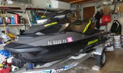 Loaded, Sea Doo GTX -260 limited edition, comes with 2015 triton Trailer, Cover, and 2 matching life jackets. Coast guard equipped, garage kept. VERY FAST ski, less than 20 hours on the motor, purchased at Riva Motor Sports for $20,000 with Trailer. Firm