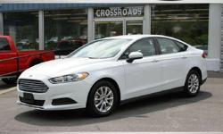 """FOR UP-TO-DATE PRICING AND MORE PHOTOS, CLICK THIS LINK: http://www.crossroadsny.com/used/Ford/2015-Ford-Fusion-Ravena-NY-9bc02af50a0e0ae804cd52cb1d8629de.htm?searchDepth=1:1 2015 FORD FUSION """"S"""" 10K Spotless Miles! Power Windows/Locks and Mirrors! SYNC"""