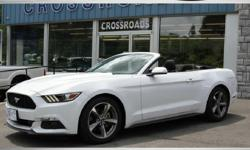 2015 FORD MUSTANG CONVERTIBLE! Like New! 24K Miles V6 Automatic Transmission Alloy Wheel Package White Exterior w/ Black Convertible Top with Spotless Black Cloth Interior! Factory Books/Mats and Keys! All of our inventory is detailed/serviced/inspected