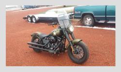 2016 Harley Davidson Softail Slim, 110B Screaming Eagle 1800 cc, Blacked out, spoked wheels n windshield. 260 miles on bike.