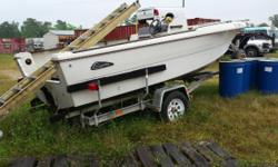 galvanize trailer good cond. boat goes with trailer
