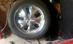20' rims with tires six lug universal patern gm trucks and suv's i have all four rims center caps and tires with good tread on all four