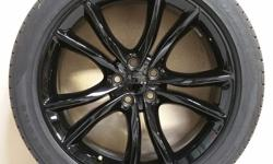 """20"""" DODGE CHARGER WHEELS(BLACK) THAT ARE FLAWLESS WRAPPED IN 245/45/R20 FIRESTONE FIREHAWK GT TIRES!! CALL JAYSEN AT 501-955-2232 FOR MORE INFORMATION."""