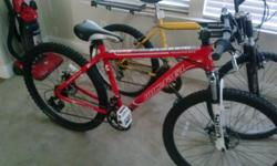 Micargi M80 sport mountain bike. This bike was a Christmas gift but only sits in my garage collecting dust. Never used just dusty from storage. Also included is a bike rack for a car and bike mounts for a GoPro camera or other recording device (not