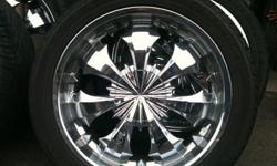 "22"" rims NEW TIRES no scratches or dents asking $850 OBO call or text @ 760-270-1269"