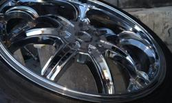 nice clean 22' Rims and Tires 265/35 ZR22 text 323-208-8638