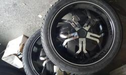 """22"""" Rockstar Wheel & Tire 265/40/ R22 sitting on brand new tires !!! 6- lug universal fit most about anything sitting on New Tires will sacrifice for only $600 SERIOUS INQUIRIES ONLY ! LOCAL SALES ONLY ! WILL NOT SHIP ANYTHING HAND IN HAND SALES ONLY !"""