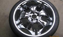 """22"""" Voodoo rims 1of these rims will cost you 400 in other places"""