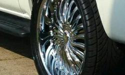 24 inch rims and tires like new. I bought them about 3 months ago.