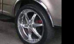 "24""rims set,2 good tires.or trade for set of svt lightning wheels."