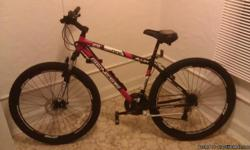 29'' inch Genesis Mountain Bike in excellent condition road it several times since I bought it ! Light weight Alloy, 21 speeds, shimano equipped, Ground force shock system forks, front wheel disc brakes. This is a $300.00 value bike just asking $150.00 or