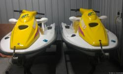 (2) 1996 Seadoo GTI's with tandem trailer in good condition and low hours. Run very well - capable of pulling a skier. Each can hold 3 passengers. Trailer has new tires and seadoo has new battery.