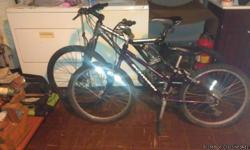 I have two nice bicycles for sale in great shape well below store price. I looked in the stores for their prices. The boys is $180 and the girls is $267 the bicycles wont last long. The mongoose is a 26 inch and the girls is the same but a little smaller.