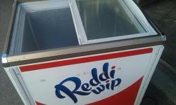 """Model SC-142 - Glass Top Sliding Doors Refrigerator Cooler Used - Works great and in good conditon Asking: $350 OBO Call: -- 110volt Measures 32"""" Tall x 29""""Wide x 21""""Deep"""