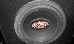 2 KICKER WOOFER SPEAKERS WITH BOX 16 IN. & 1/4 IN. WIDE BY 14 IN. & 1/4 IN. HIGH BY 4 IN. ON TOP BLACK $160.00 FOR BOTH NO EMAIL AND NO TEXT, BY PHONE ONLY 714 350-0644