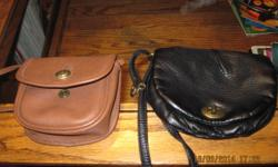 2 used small purse wallets. The black purse wallet is made by DECREE. There is no rips, tears, or stains. The brown purse wallet has no rips, tears, or stains. Asking for $5.00 each or OBO.
