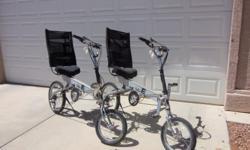 Bike E Recumbents Shimino Gears 3 chain rings 9 cogs