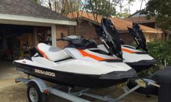 2011- 2012 sea doo Pwc GTI 130. DUAL TRAILER WITH COVERS AND STORAGE FOR MORE INFO CALL OR TEXT 678-776-2686