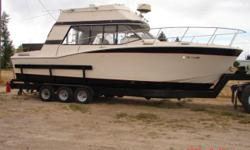 This is an estate sale item. I'm no boat expert so I'll just give the best discription I can. I do recommend and invite any interested party to come see the boat in person. It is located in Pocatello, Idaho 83201.  This