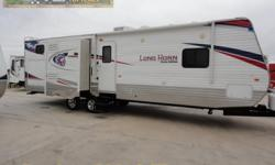 WOW what a stunning bunk house travel trailer! Unique Texas style graphics combined with very COOL interior finishes this one is dressed to impress! Equipped with three slides you have tons of great family space inside! You will have a whole new outlook