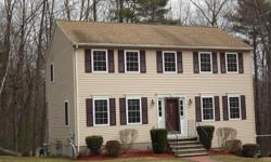 Wonderful 3 Bedroom, 3 Bath Colonial in sought after Granite Hill Estates! Spacious eat-in Kitchen with peninsula and tiled floor, sliders to deck overlooking brook and wooded back yard, Front to Back living room with gas corner fireplace and separate