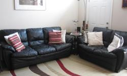 Comfy and spacious leather couches!! Great condition!! Set Includes -Couch -Loveseat -Single Seater -Ottoman