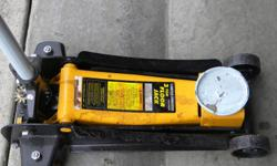 THIS FLOOR JACK HAS SEEN VERY LITTLE WORK, IN EXCELLENT SHAPE AND READY TO GO!