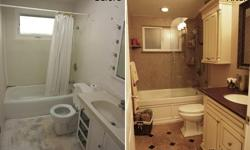 Feature Construction will remodel one Bathroom in your home to show you the quality of our work and give you a free estimate on all other work, including: Kitchen Remodel, Decks, Basements, Painting, Windows, etc. The Bathroom remodel will include: