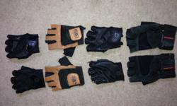 4 pair weightlifting gloves & 6 pair lifting straps take everything for $5