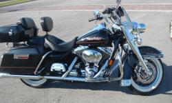 """FOR SALE---2000 HARLEY """"ROAD KING""""----ADULT DRIVEN--ONLY 21K MILES ON IT. BARELY BROKEN IN WITH A LOT OF LIFE LEFT. GOOD DEAL FOR THE """"NEW TO EXPERIENCED RIDER."""" * EXCELLENT SHAPE-----VERY LOW MILES. (EYE-CATCHER) * OVER $5000.00 IN CHROME ADDERS (FORKS,"""