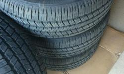 for sale: set of 4 brand new tires mounted on rims from F150 FX4, these were taken off my new truck when I installed a lift kit. Tires are Goodyear Wrangler P275/65 R18, bolt pattern 6 x 135.