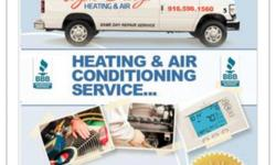 $59 day service calls to repair central heating and air-conditioning systems certified technicians fast response affordable pricing new systems available we work on all makes and models covering the general Sacramento and surrounding areas