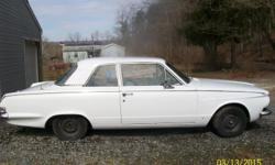 Hard to find 63 Plymouth Valiant 2 DOOR WITH STRAIGH 6 AND PUSH BUTTON TRANS ON DASH. LESS THAN 70000 MILES. INTERIOR IS IN EXCELLENT CONDITION. BODY NEEDS A LITTLE TLC. CAR HAS NEVER BEEN CHANGED OVER FROM ORIGINAL OWNER FROM 1963. DOES Run. 3018768224