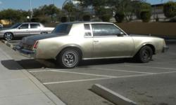 1979 Gold Buick Regal New Battery, New Alternator Runns Really Well, & Is In Good Condition