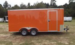 Stock #: custom order Serial #:order Description :::::::: ai 7x16 tandem enclosed trailer standard features: v-nose front w/ solid front wall construction, rear ramp door & spring assist, 32? side door w/ rv flush
