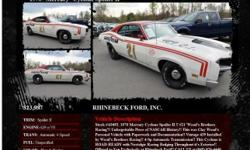 Mercury Cyclone Spoiler II Spoiler II Automatic 4-Speed Woods Racing 87111 429 ci V81970 RHINEBECK FORD, INC. 845-876-4440