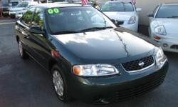 2000 Nissan Sentra AUTOMATIC 4 Doors Green 4 Cylinders Automatic Transmission CALL NOW OR BUY WITH CONFIDENCE. ENGINE AND TRANSMISSION WARRANTY. TO SEE MORE PICTURES OR INFO JUST CLICK THE IMAGE OR CLICK THE WEBSITE ADDRESS IN TOP OF PAGE. Fully loaded.
