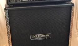 PROFESSIONAL GUITAR AMP FOR SALE ? Mesa Boogie Road King II ?  120 Watt Dual Rectifier Head with matched 4x12 Road King cabinet.  4 channels with TubeTracking capabilities per channel. 12 tube-voicing options. Open-back or