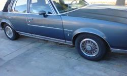 I HAVE A 84 OLDSMOBILE BROUGHAM CUTLASS I AM THE SECOND OWNER.... TAGS PAID TIL JUNE 2013 LOW MILEAGE, JUST GOT TIRES 2 MONTHS AGO, WATER PUMP, OIL CHANGE, OIL FILTER, RADIATOR... EVERYTHING IS ORIGINAL IN THE CAR ALL STOCK... NEEDS A LITTLE TLC HAS A
