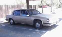 85 Cadillac DeVille 78000 mi. My husband was working on it, but never finished, its been sitting for little over a year. body & interior in excellent condition. Great car to fix or use for parts. $800.00 or BO must sell