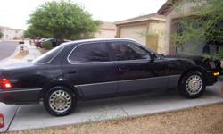 92' Lexus LS 400, looks good, runs good, power everything, A/C, 180K, drives but needs alternator.