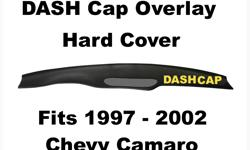 ABS Molded Plastic DASH Cap Overlay Fits 1997- 2002 Chevy Camaro / Hard Plastic Cover Glue this right over your Original Dash Board to make it look like NEW Again Manufacturers Lifetime Warranty against Cracking ! Call Danny @